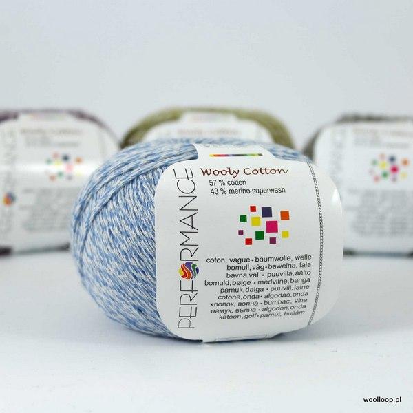 Wooly Cotton 85 błękitny