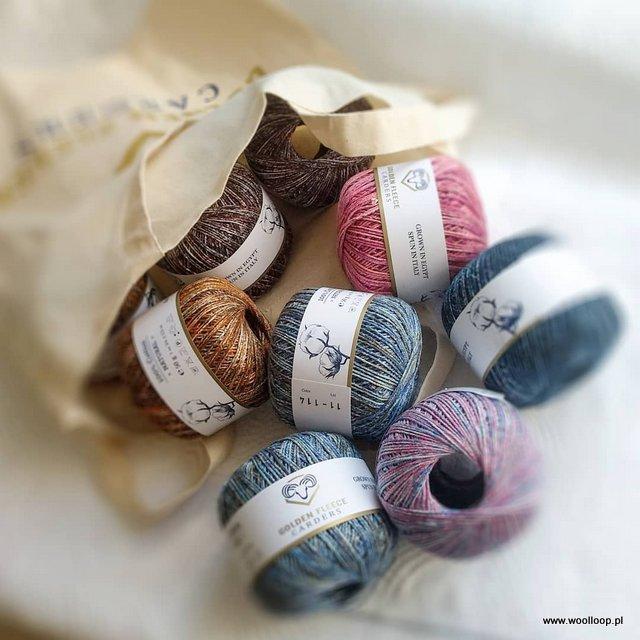 wloczka z bawelny egipskiej 100 Cotton Earth Golden Fleece Cardes woolloop
