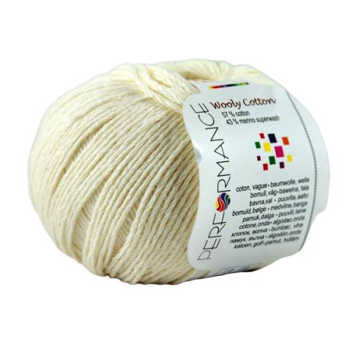 Wooly Cotton 02 kremowo-biały