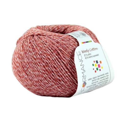 Wooly Cotton 16 koralowy