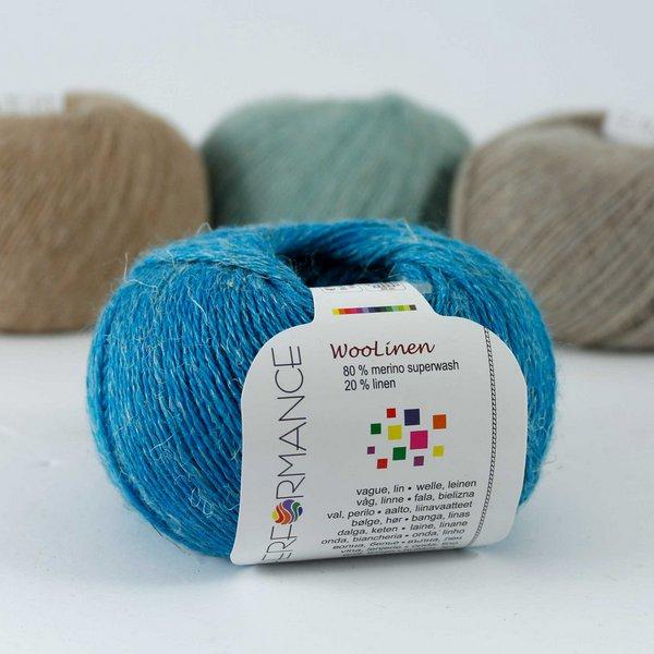 Woolinen 125 lazurowy